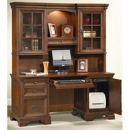 Credenza Desk and Hutch