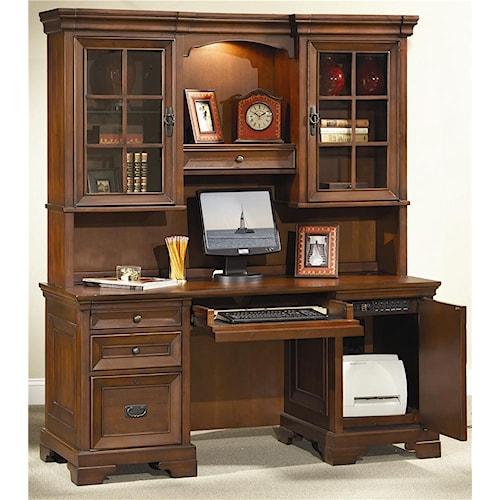 Aspenhome Richmond 66 Inch Credenza Desk And Hutch
