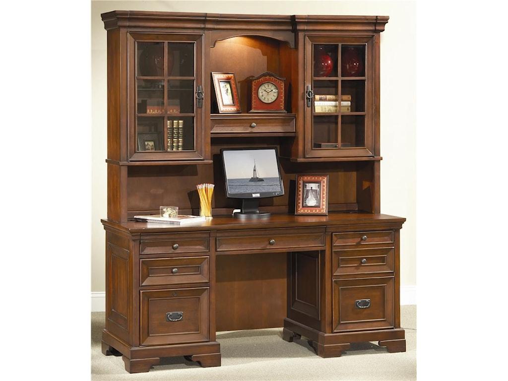 Aspenhome RichmondCredenza Desk and Hutch