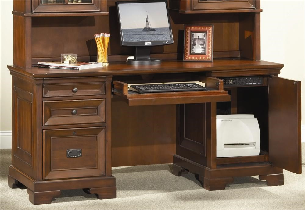 aspenhome richmond 66 inch credenza desk - belfort furniture