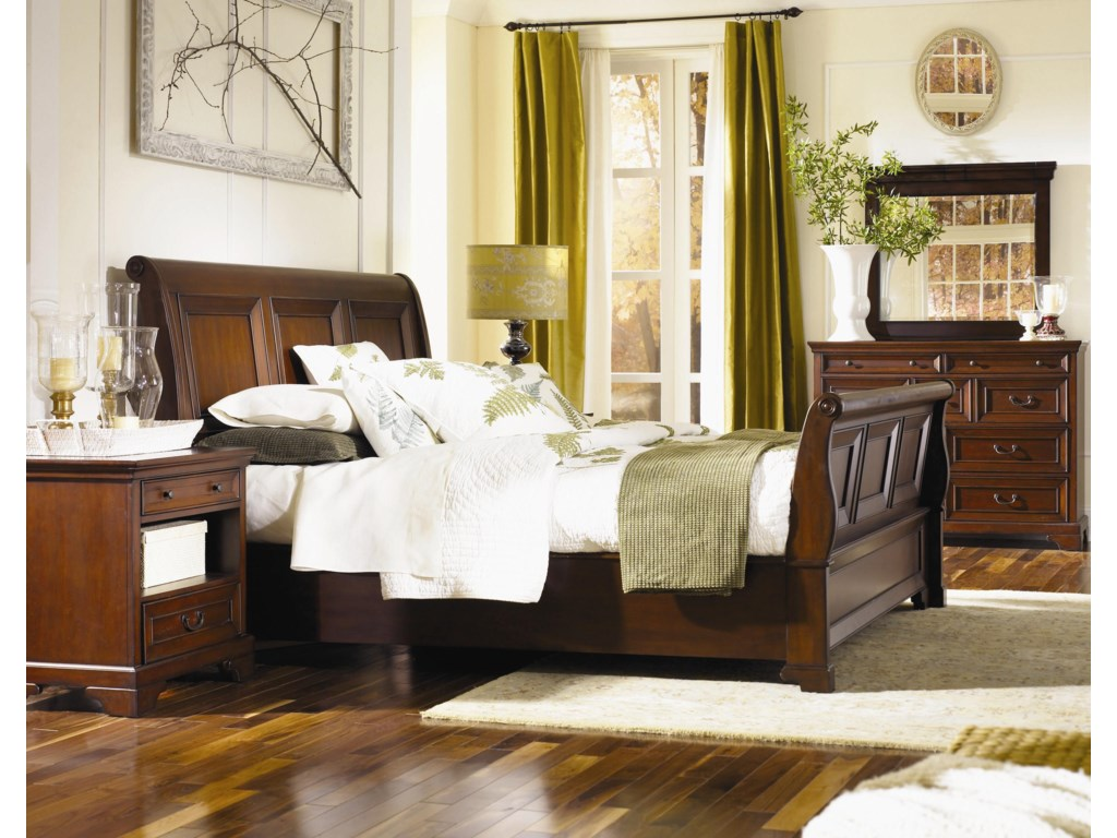Shown with Sleigh Bed, and Chesser Mirror - Chesser Shown is No Longer Available by the Manufacturer