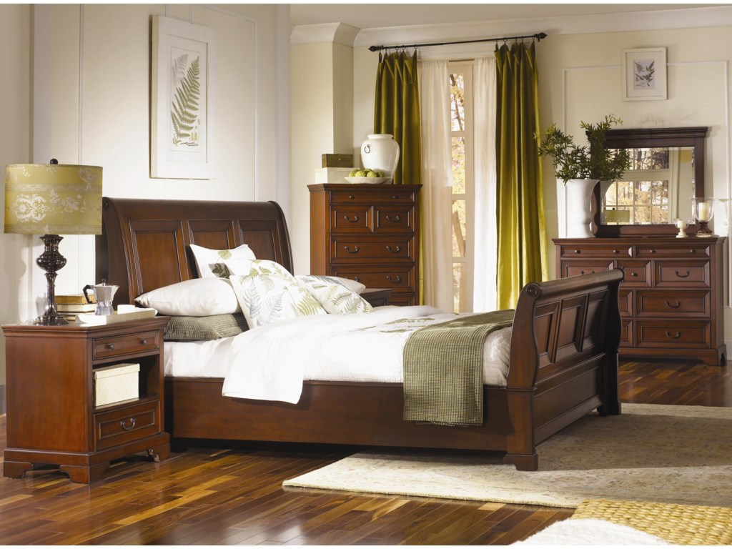 Shown with Sleigh Bed, Two Drawer Nightstand,and Chesser Mirror - Chesser Shown is No Longer Available by the Manufacturer