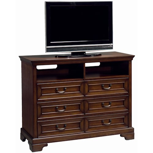 Aspenhome Richmond Entertainment Chest with Three Drawers and Two Cubbyholes
