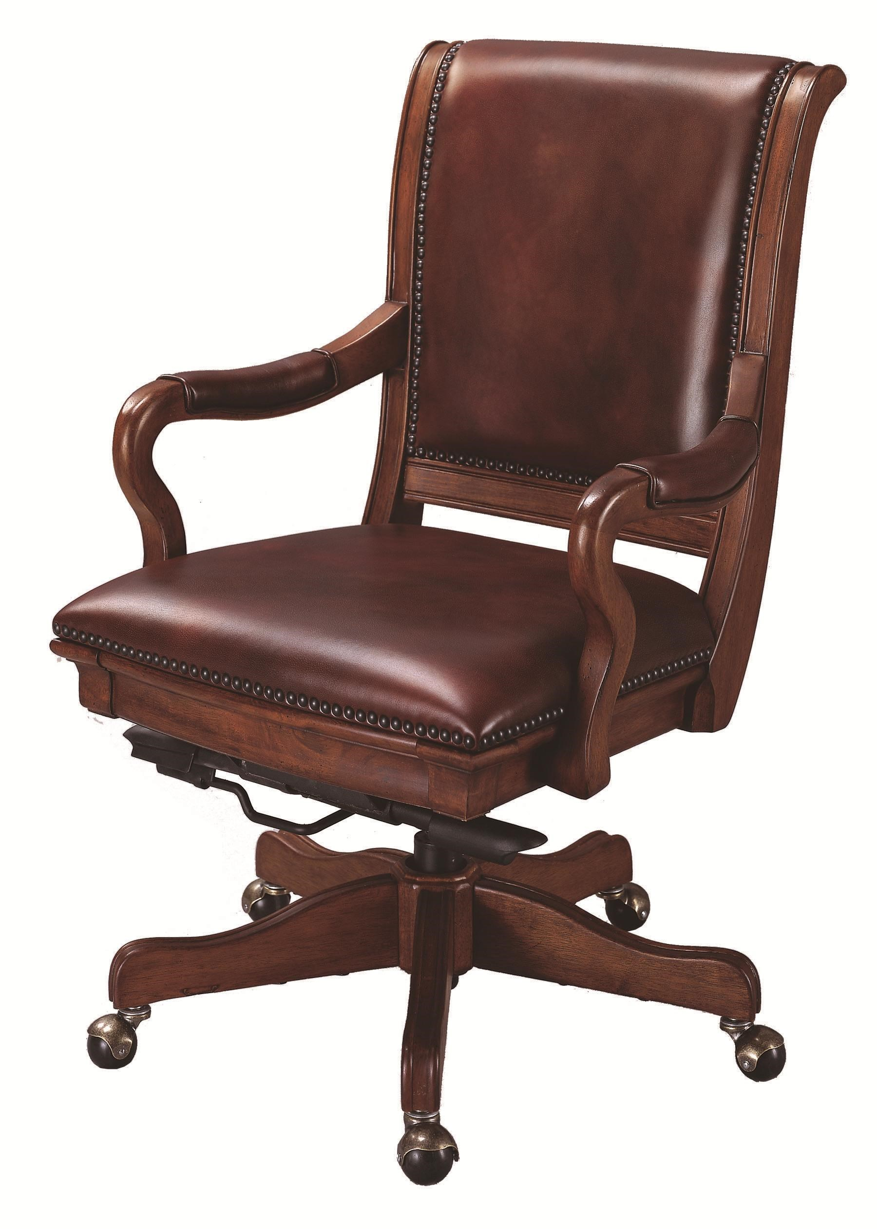 Attirant Richmond Leather Upholstered Caster Office Chair With Adjustable Seat  Height And Knee Tilt Features By Aspenhome