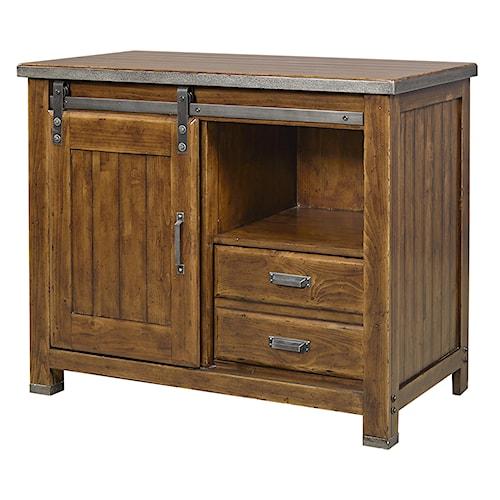 Aspenhome Rockland File Cabinet with Sliding Door