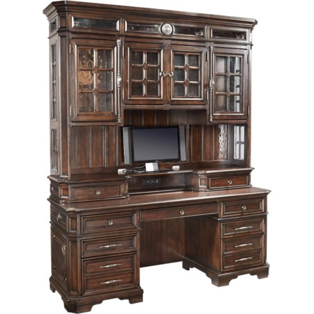 "75"" Credenza Desk and Hutch"