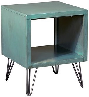 Aspenhome Studio End Table with Splayed Metal Legs