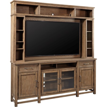 Entertainment Console and Hutch