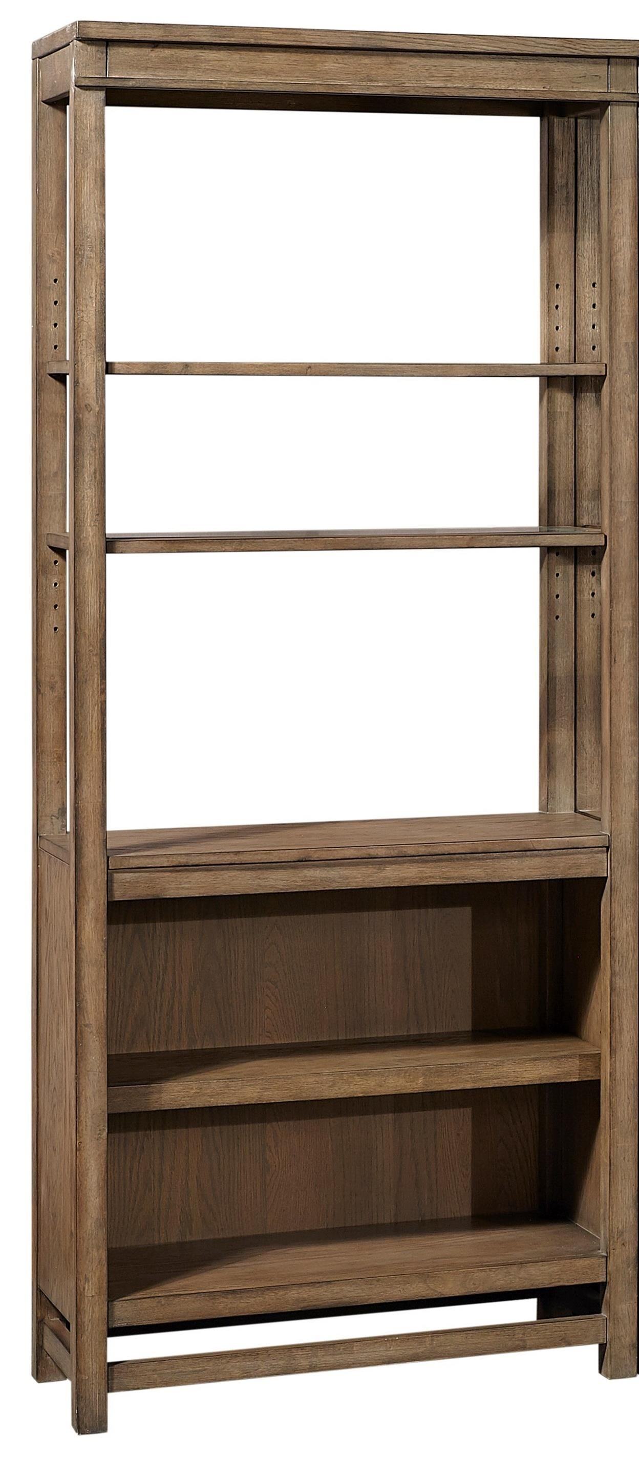 Casual Bookcase with Adjustable Glass Shelves