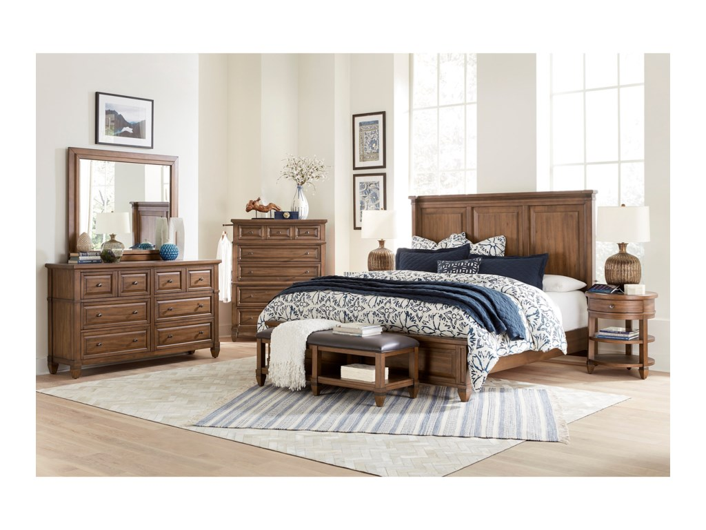 Aspenhome ThorntonQueen Panel Bed
