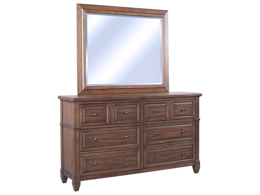 Highland Court ThorntonDresser + Mirror Set
