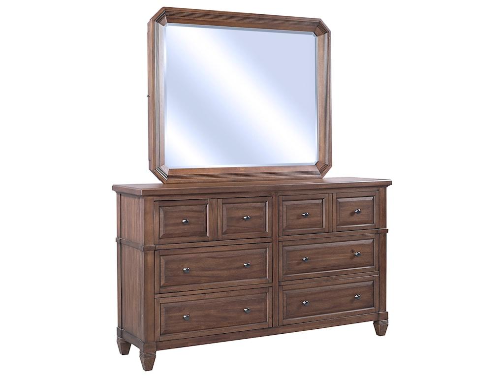 Aspenhome ThorntonDresser + Mirror Set