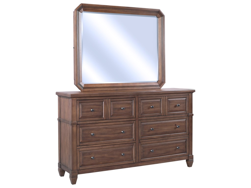 Highland Court ThorntonMirror w/ Jewelry Storage