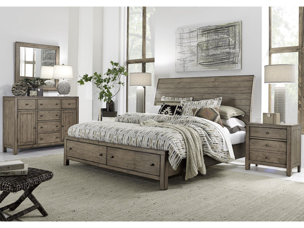 Aspenhome TildonQueen Sleigh Storage Bed