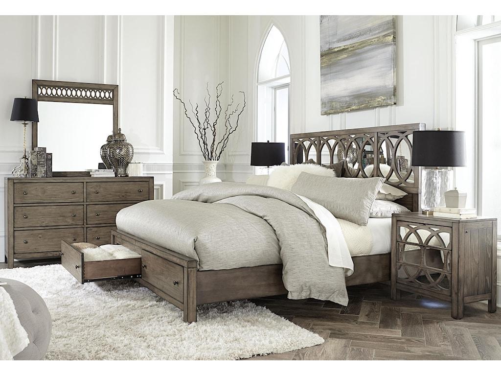 Aspenhome TildonCalifornia King Sleigh Storage Bed