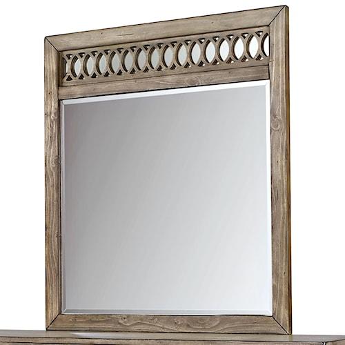 Aspenhome Tildon Fret Mirror with Circle Pattern