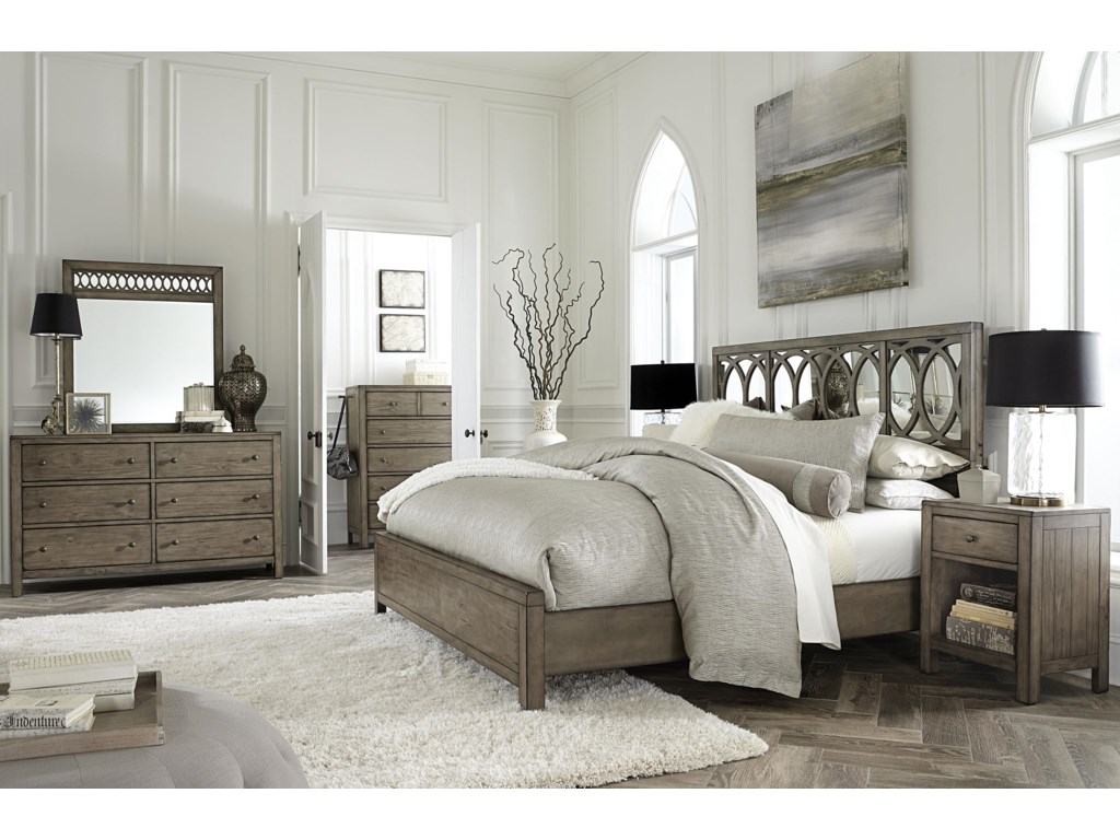 Aspenhome TildonCalifornia King Mirror Panel Bed