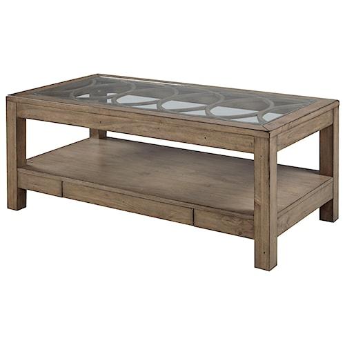 Aspenhome Tildon Rectangular Tail Table With Gl Top