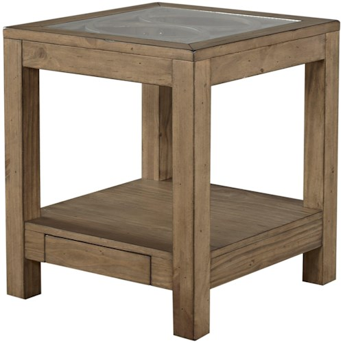 Aspenhome Tildon End Table with Power Outlet