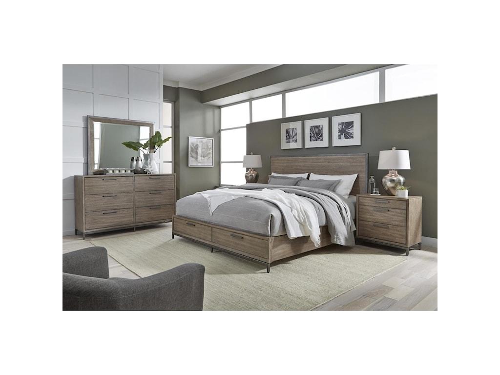 Aspenhome TrellisKing Storage Bed