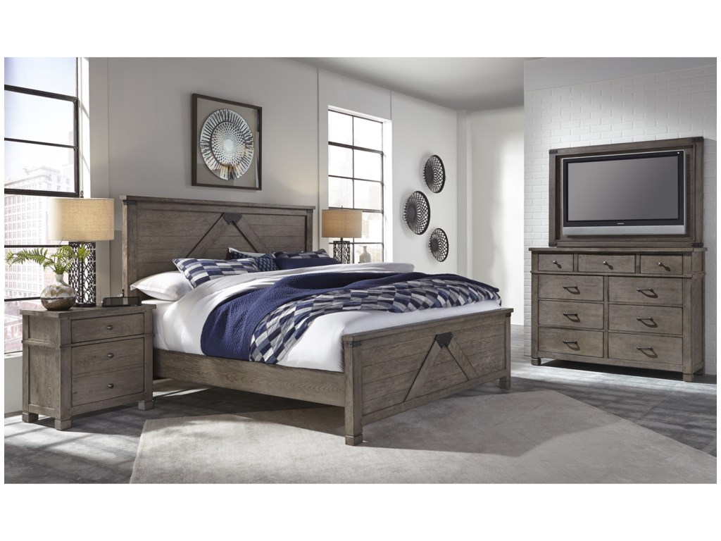 Aspenhome TuckerKing Panel Bed