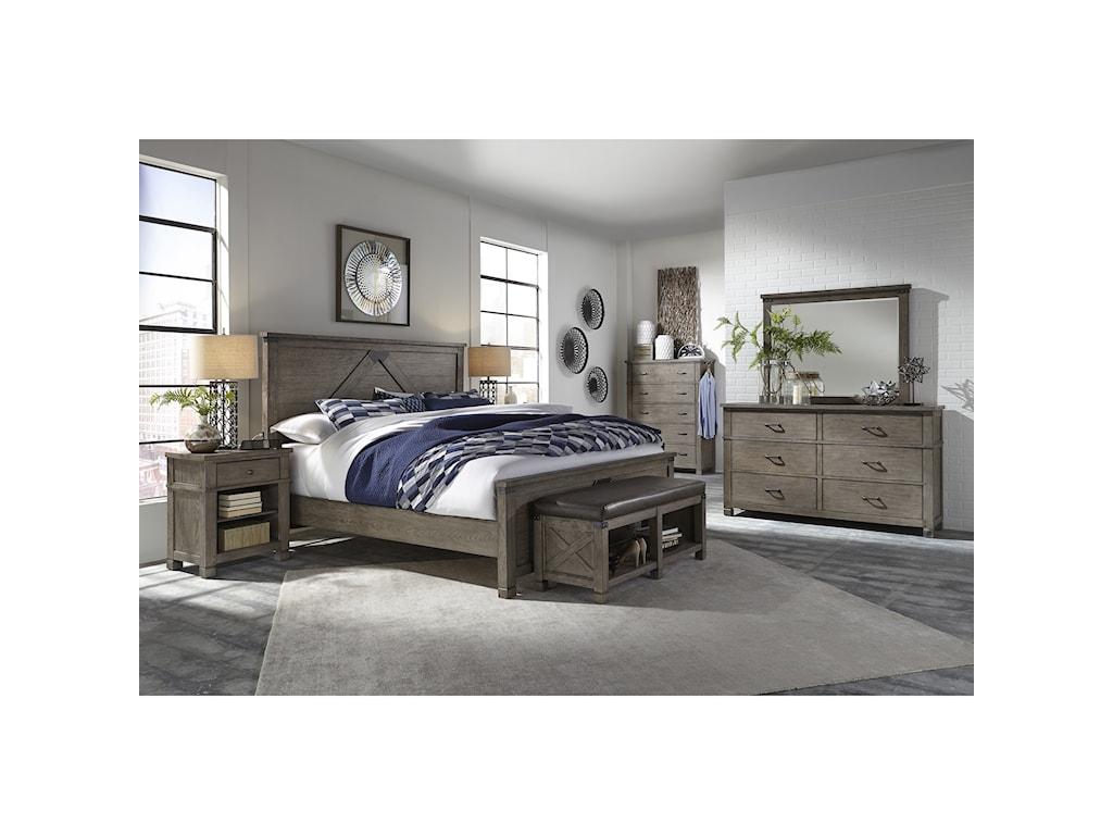 Aspenhome TuckerQueen Panel Bed
