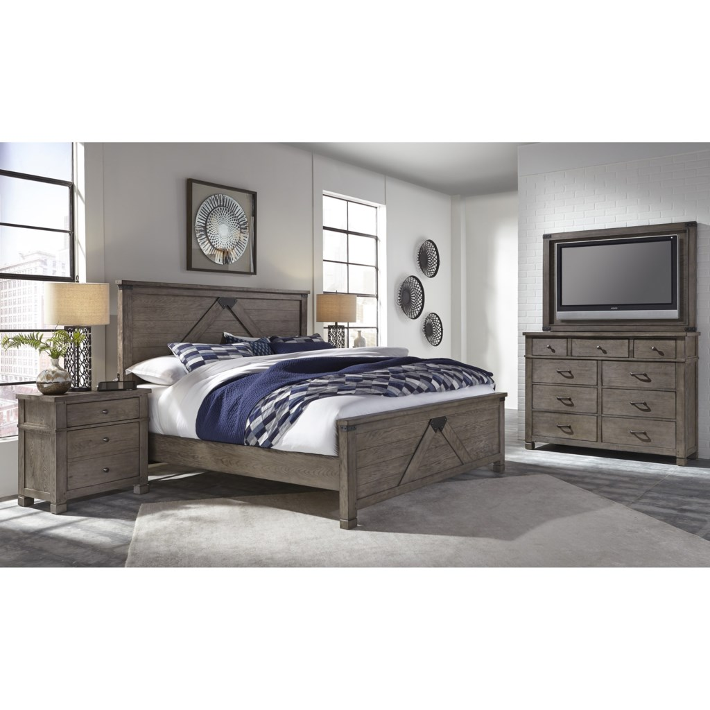 Aspenhome Tucker Chesser With Tv Stand Becker Furniture World