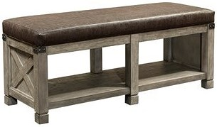 Aspenhome Tucker Upholstered Bonded Leather Bench