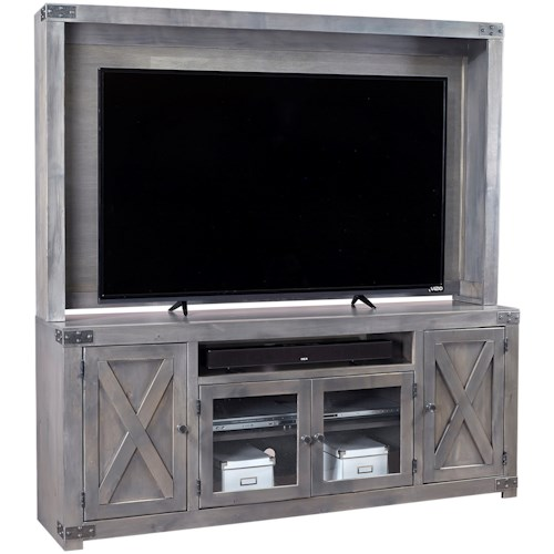 Aspenhome Urban Farmhouse Wall Entertainment Unit with Soundbar Area