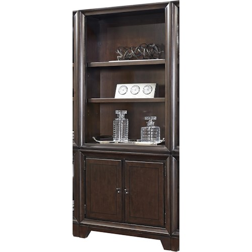 Aspenhome Viewscape Door Bookcase with 3 Adjustable Shelves