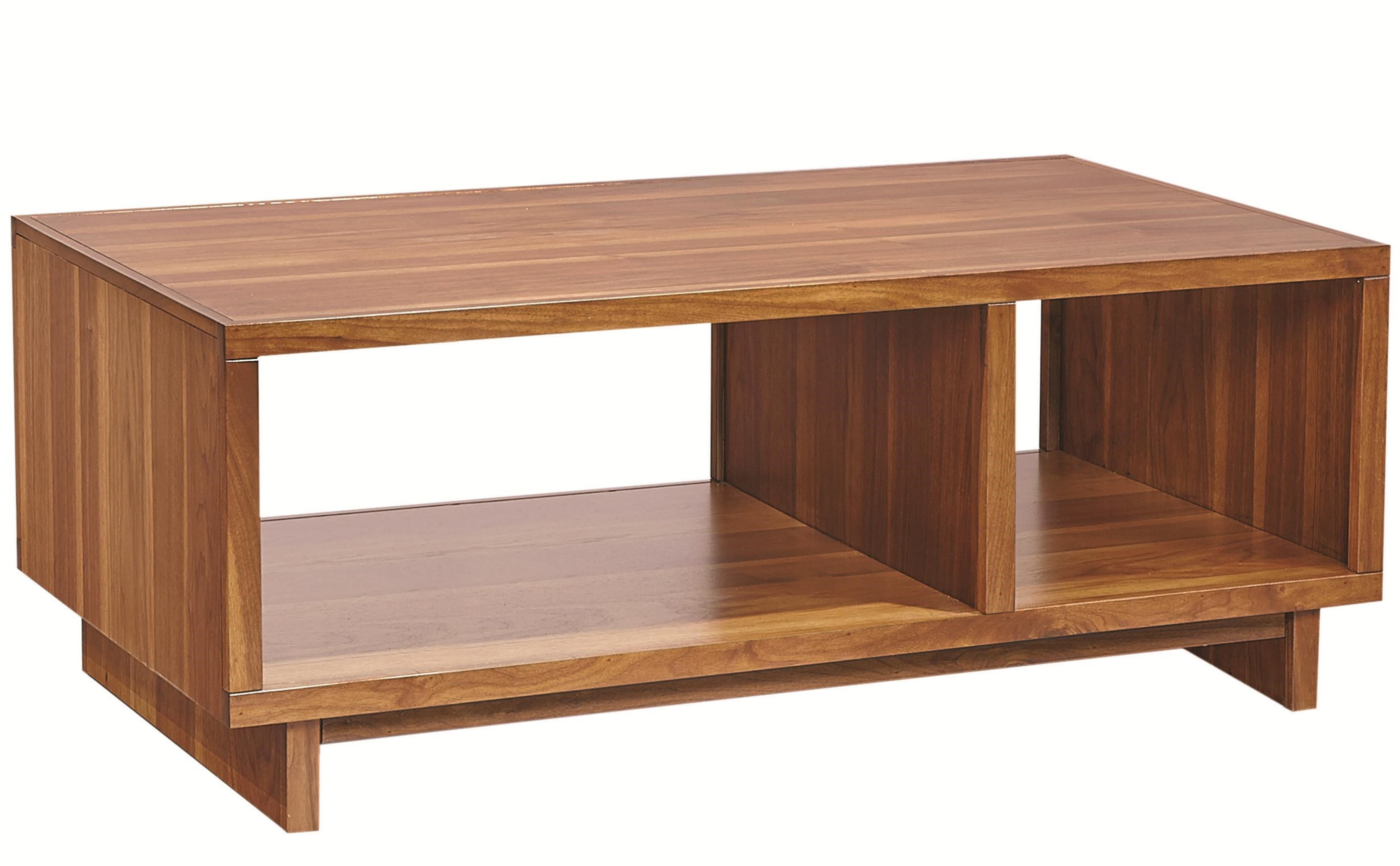 Bon Aspenhome Walnut Heights Cocktail Table With 2 Open Compartments