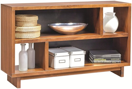 Aspenhome Walnut Heights Console Table with Shelf