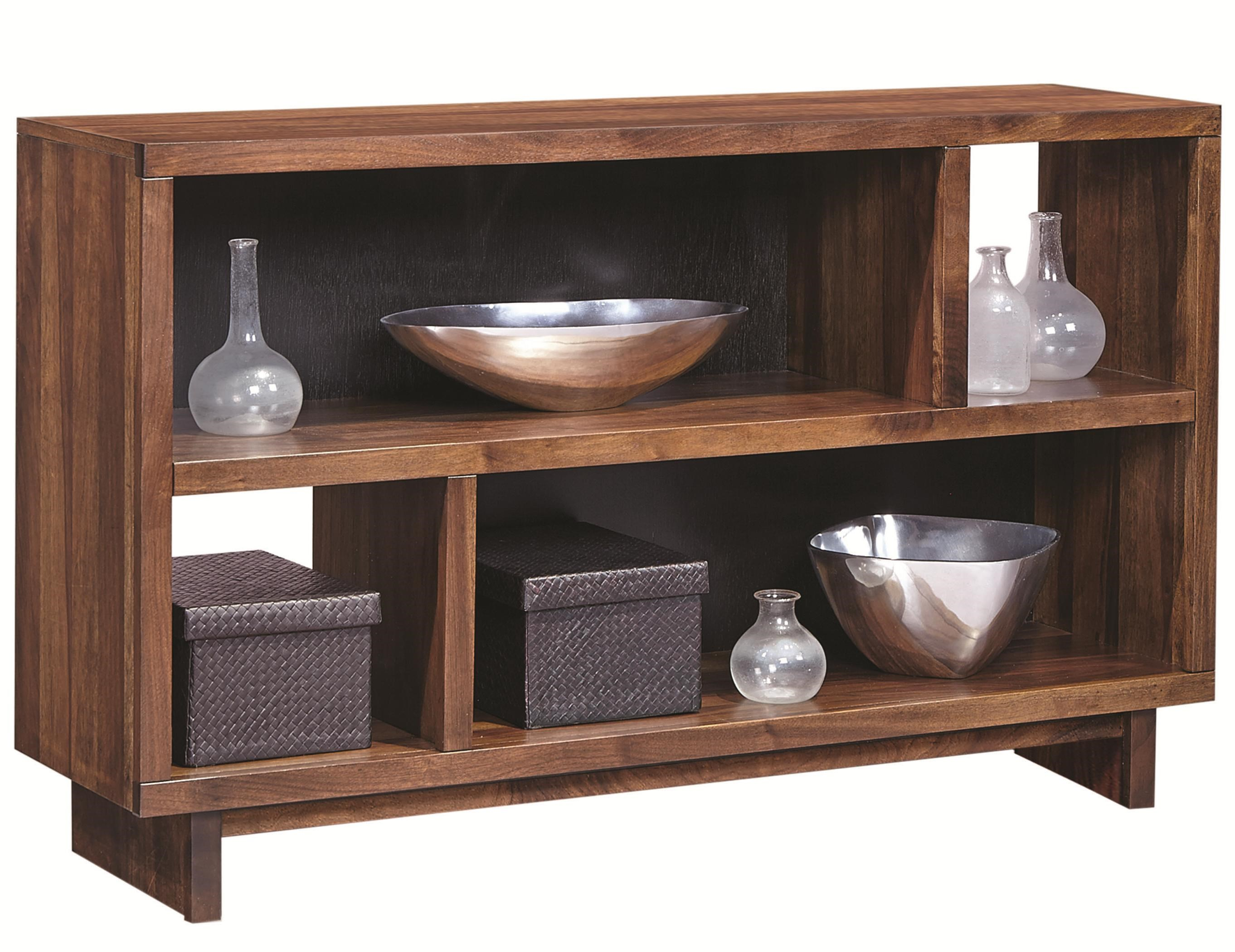 walnut heights console table by aspenhome
