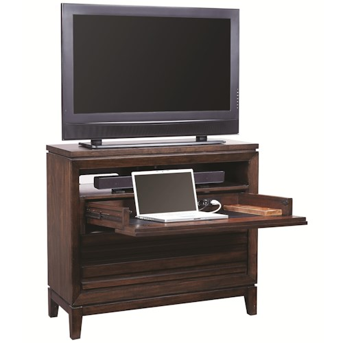 Aspenhome Walnut Park Liv360 Entertainment Chest with 3 Drawers