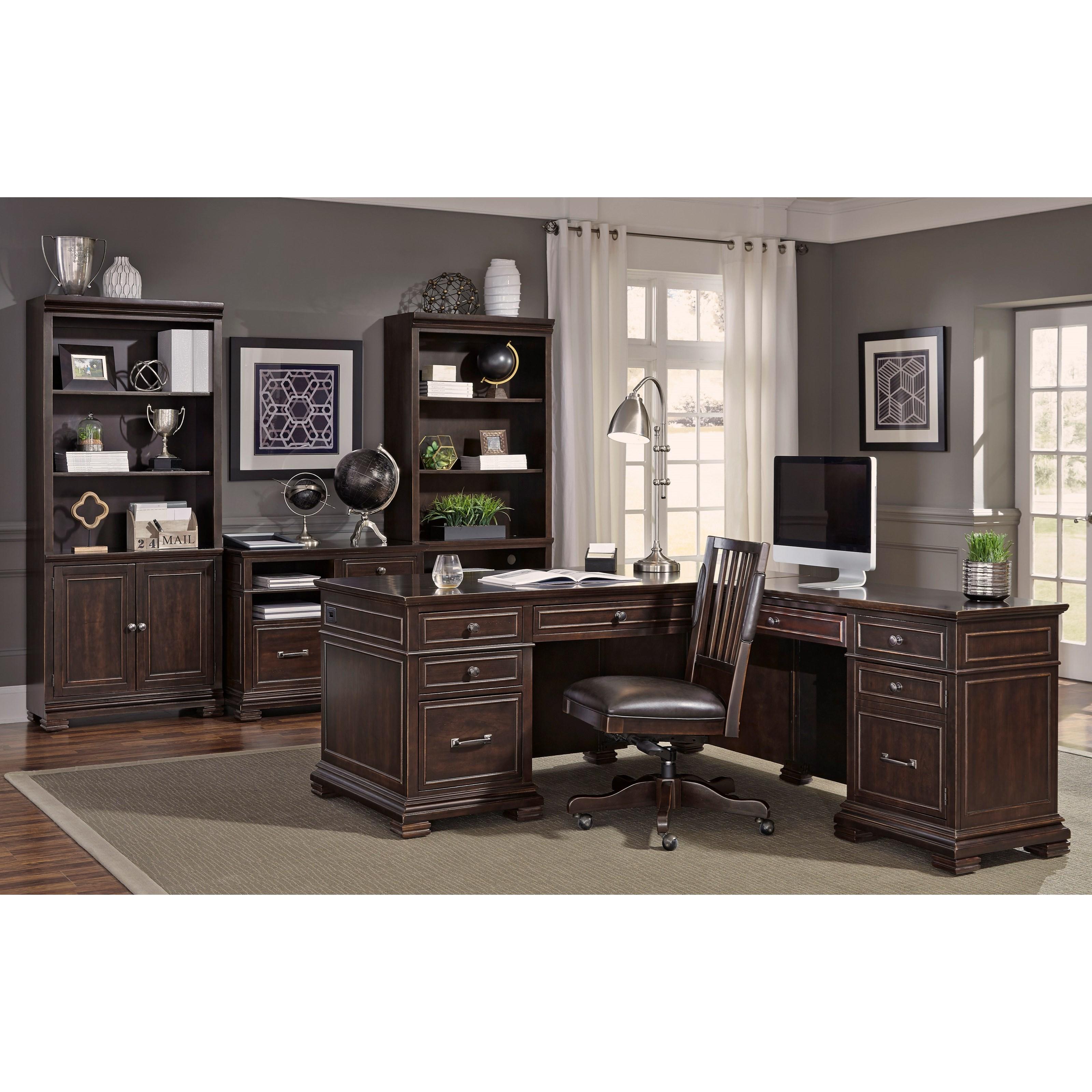 ... Aspenhome WestonL Shaped Desk