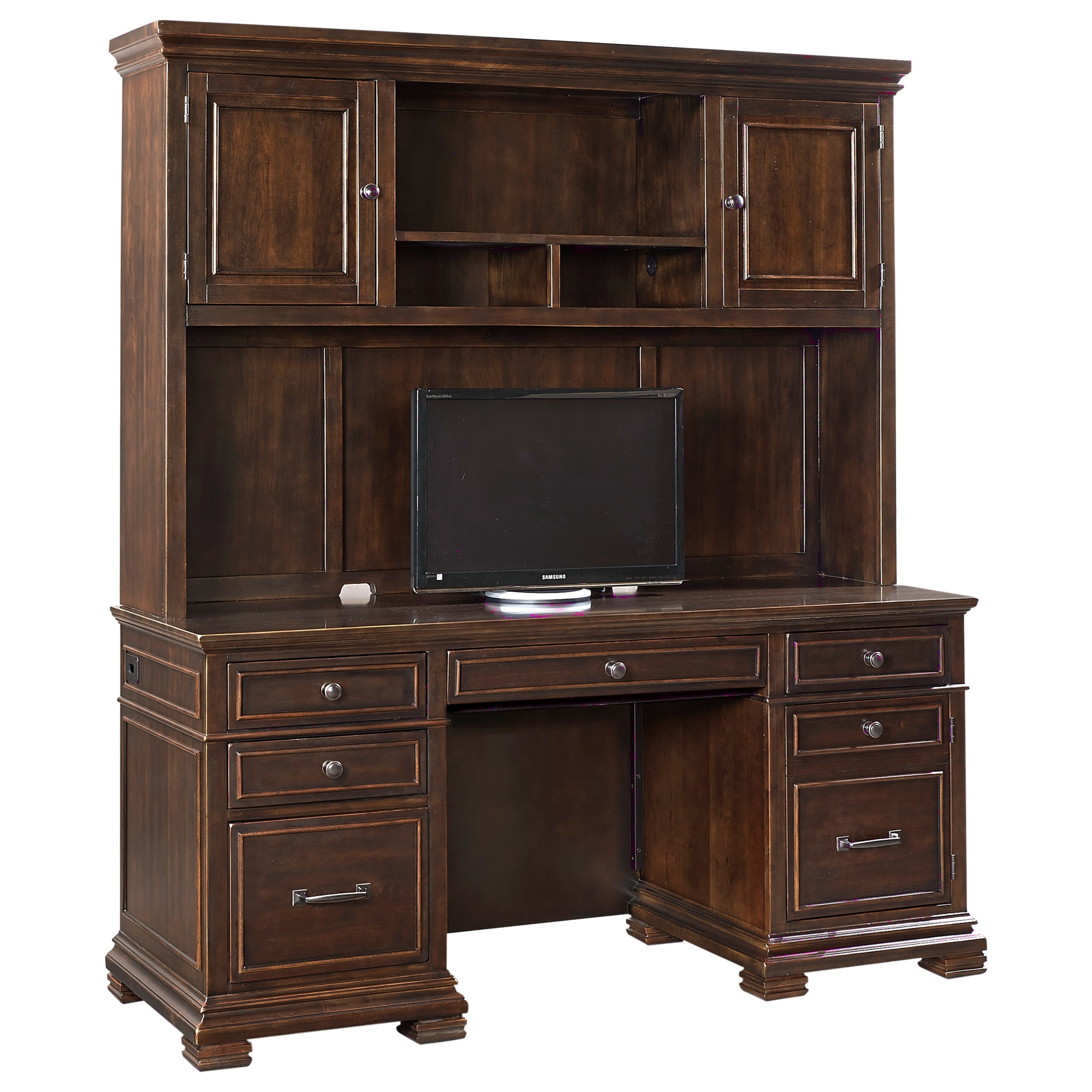 Aspenhome Weston Credenza With Hutch And Charging Station