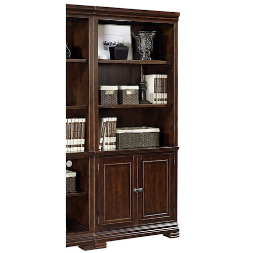 Aspenhome Weston Door Bookcase with 3 Adjustable Shelves
