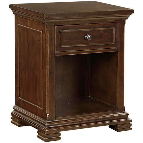 Aspenhome Weston 1 Drawer Nightstand with Felt-Lined Drawer