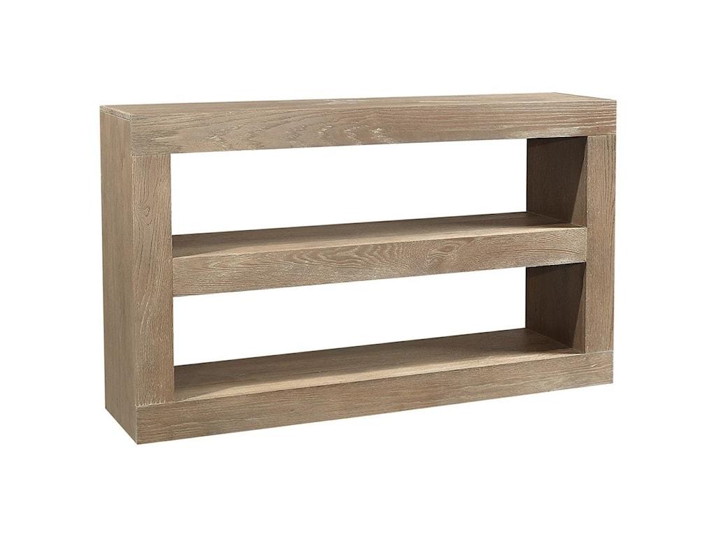 Aspenhome Nova OakOpen Console 2-Shelf TV Stand