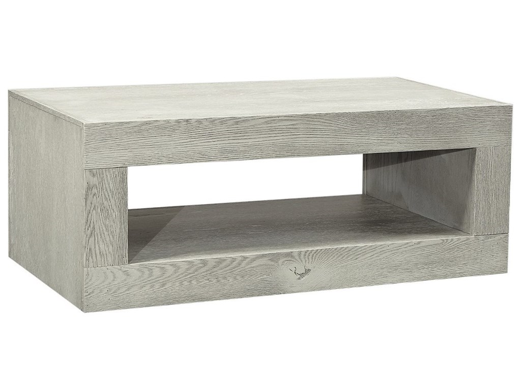 Aspen Home Coffee Table.Nova Oak Transitional Cocktail Table With Lower Open Shelf By Aspenhome At Zak S Home