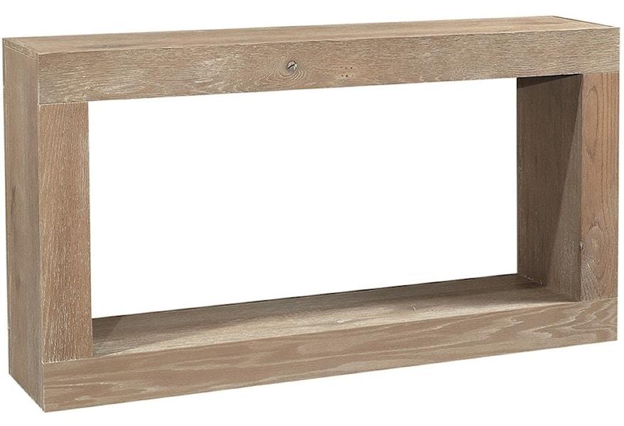Aspenhome Nova Oak Wku960 Etp Transitional 60 Console Table With Lower Open Shelf O Dunk O Bright Furniture Sofa Tables Consoles