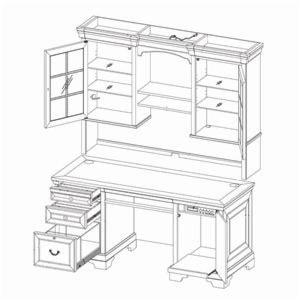 Highland Court RichmondCredenza Desk and Hutch