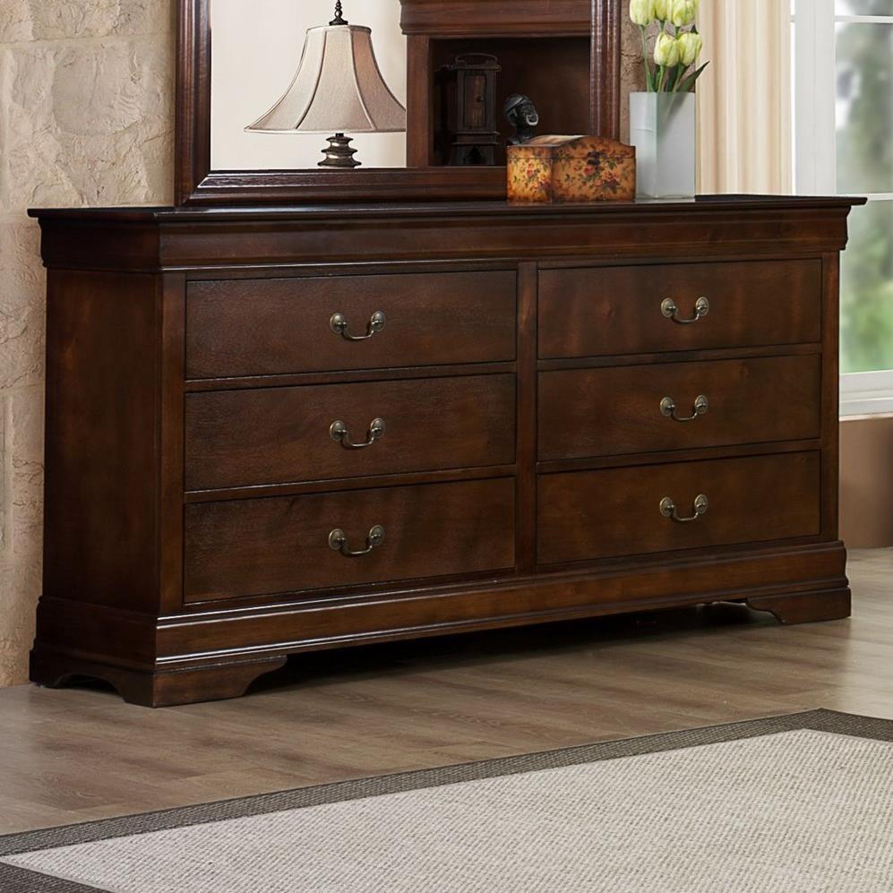 Austin Group Marseille 6 Drawer Dresser