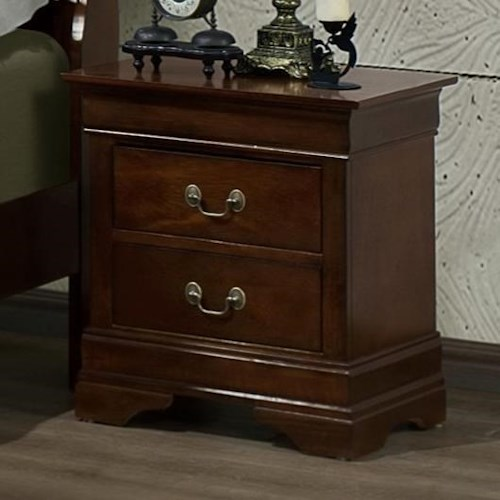 Austin Group Marseille 2-Drawer Night Stand