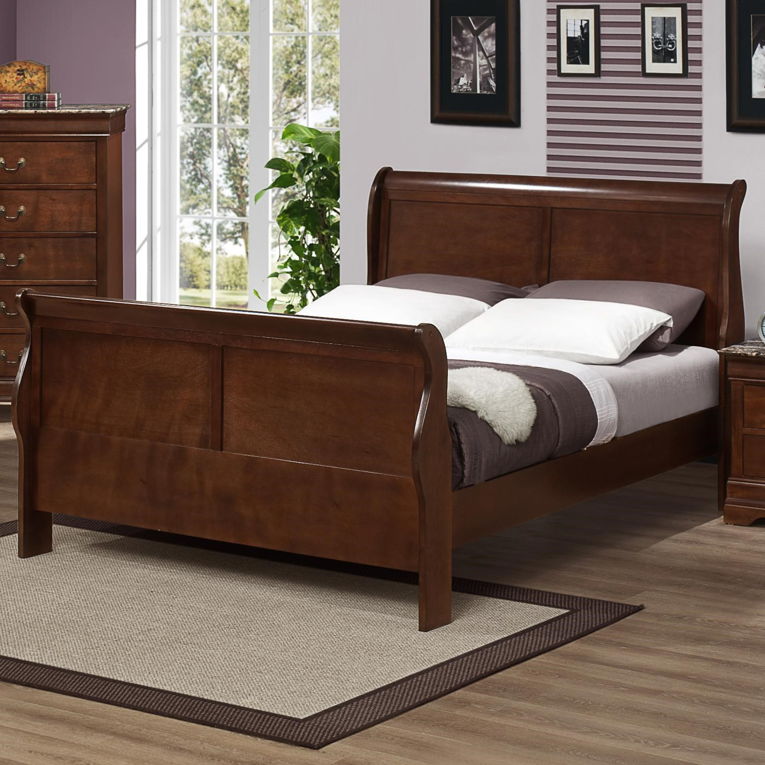 Austin Group Marseille Queen Sleigh Bed With Curved Posts
