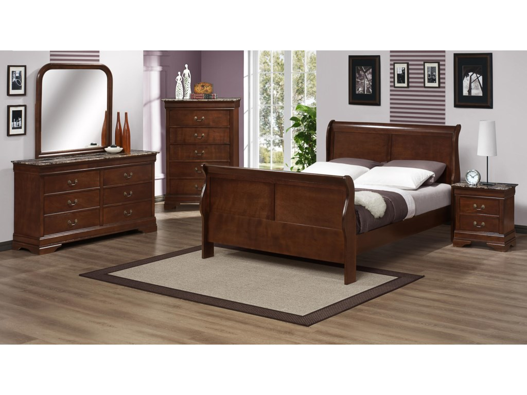 Austin Group MarseilleFull Sleigh Bed
