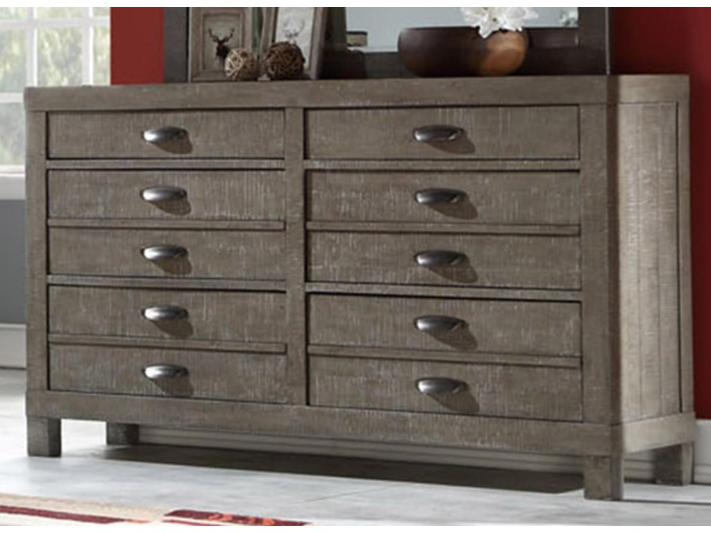 Austin Group TownsendDresser with Hidden Jewelry Drawer