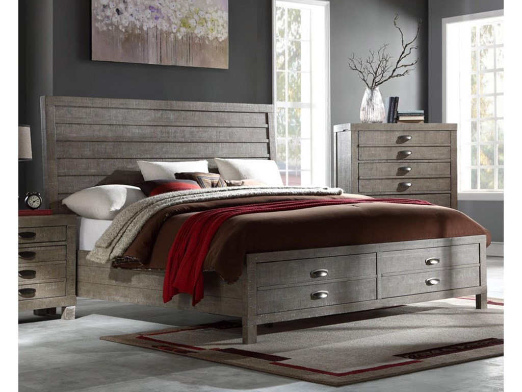 Austin Group TownsendQueen Storage Bed
