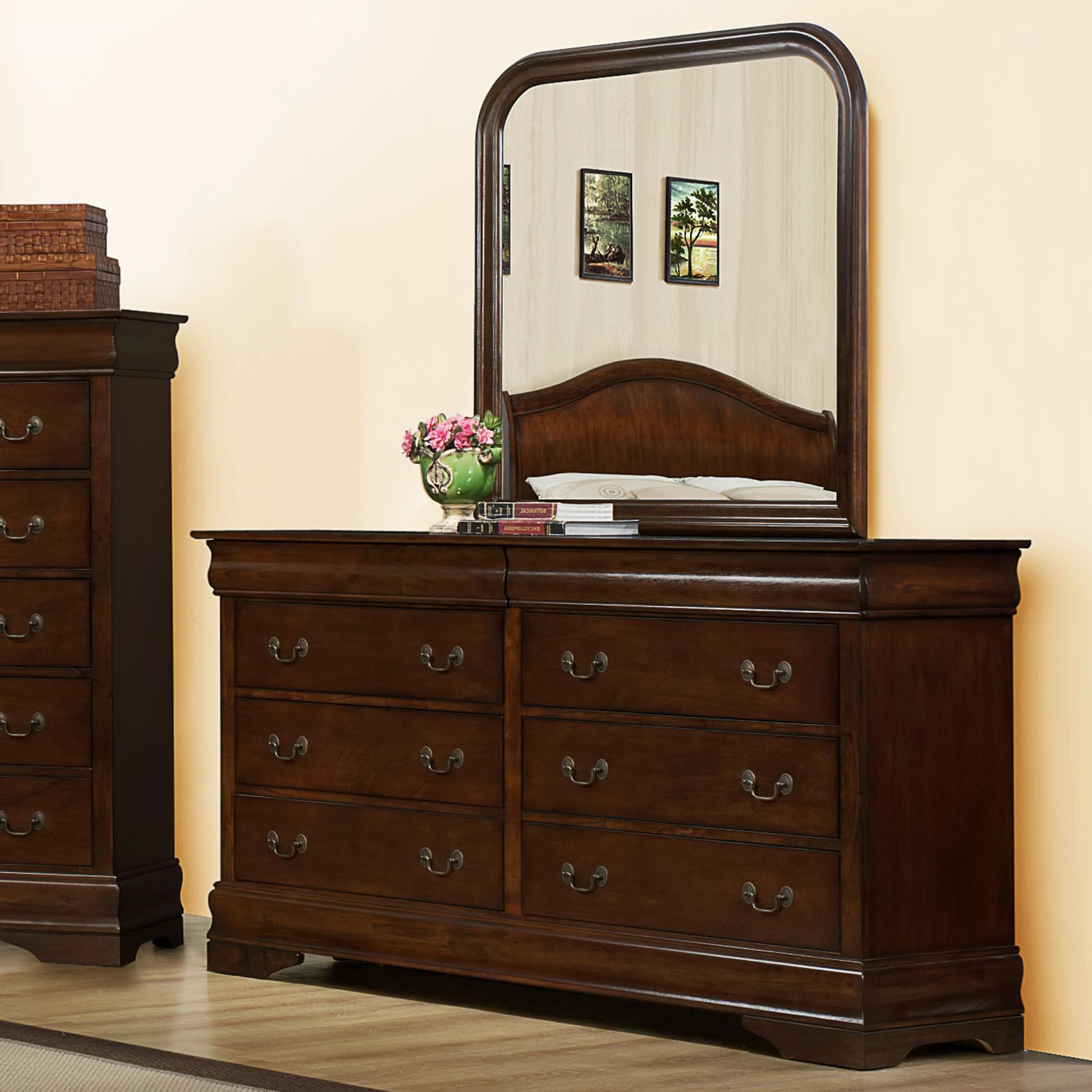 Austin Group Big LouisDresser U0026 Mirror Set ...