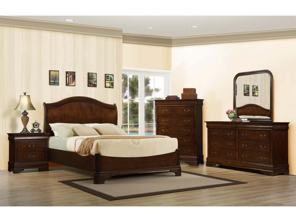 Shown with Nightstand, Platform Bed, & Chest